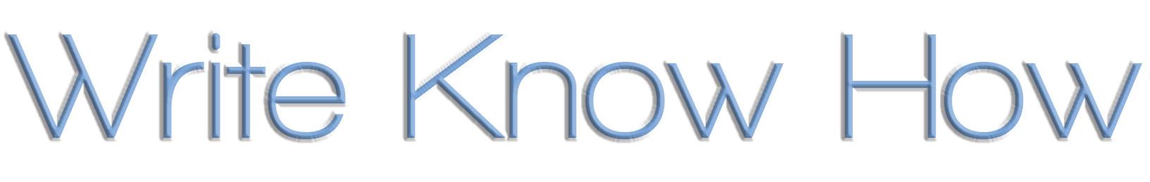 writeknowhow
